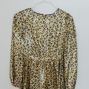 Shiny Leopard Dress